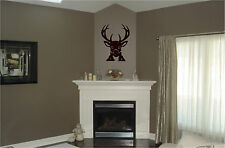 Deer Head & Antlers Wall Sticker Nature Hunting Wall Art Decor Vinyl Decal 23x30