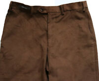 New Mens Marks & Spencer Regular Fit Brown Cord Trousers Size 38 36 34 32 L31 29