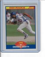 DWIGHT SMITH 1989 SCORE BASEBALL ROOKIE CARD 642 CHICAGO CUBS