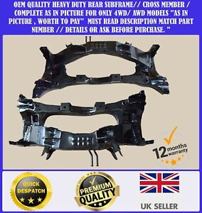 NEW OE QUALITY MITSUBISHI OUTLANDER 4WD 01-06 REAR SUBFRAME AXLE CROSSMEMBER