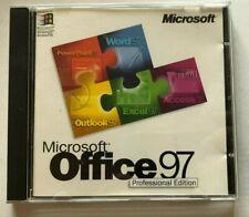 Vintage Microsoft Office 97 -  Professional edition - PC cd - Inc Key code