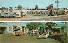 Dexter Glendale Arizona Trails End Motel roadside Phoenix 1961 Postcard 20-8032