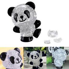 3D Cute Panda Crystal Puzzle Jigsaw DIY IQ Intellectual Toy Kids Gift Game HUQ