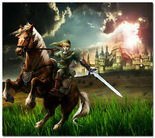 """The Legend of Zelda 25th Anniversary Ocarina of Time Game Silk Poster 24x24"""" 10"""