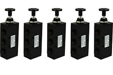 5x Hand Push Pull Pneumatic Air Control Valve 5 Port 4 Way 2 Position 1/2