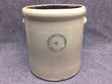 Queen City Pottery Denver Colorado 4 Gallon Stoneware Crock Antique