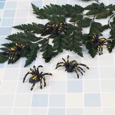 5X en plastique araignée faux blagues de Halloween plaisanter cadeau jouet *tr