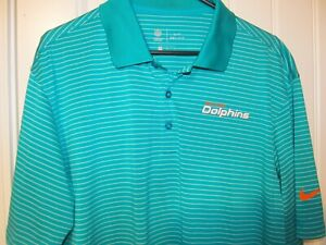 Miami Dolphins Sideline polo shirt - Nike Dri-Fit Adult Large
