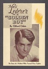 """Clifford Odets """"GOLDEN BOY"""" Francis Lederer / Lee J. Cobb 1938 Los Angeles Flyer"""