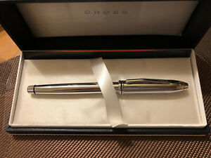 Cross Townsend Platinum Fountain Pen Medium, European Model, Rare, New,Extra Ink
