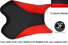 BLACK & RED VINYL CUSTOM FITS YAMAHA 600 YZF R6 08-12 FRONT SEAT COVER ONLY
