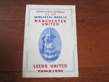 FA Cup Home Team Leeds United Final Football Programmes