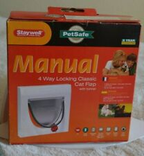 Staywell Manual 4 Way Locking Classic Cat Flap with Tunnel 917