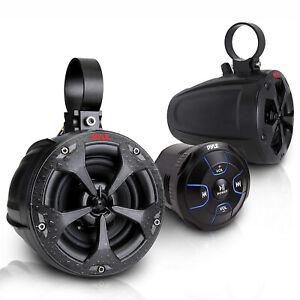Pyle PLUTV46BTA 2 Way 4 Inch Off Road Bluetooth 800W Waterproof Marine Speakers