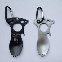 Outdoor EDC Tool Stainless Steel Multi Tool Spoon Fork Bottle Opener Wrench