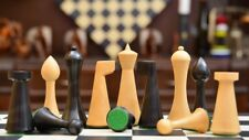 Combo of Minimalist Herman Ohme Chess Set Dyed Boxwood and Maple Chess Board