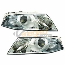 Skoda Octavia Mk2 2004-2009 Headlights Headlamps 1 Pair O/S And N/S