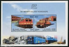 Locomotives and Railway Workshops souvenir sheet mnh 2013 India