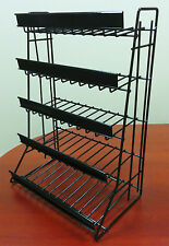 5 Tier Shelf Counter Top Snack Gum Card Potato Chip & Candy Display Rack - Black