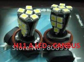 2 AMPOULE LED H11 SMD 5050 BLANC XENON 6000K + RESISTANCE CANBUS ANTI ERREUR ODB