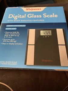 Walgreens Digital Glass Scale with body analysis Features OPEN BOX