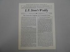 I. F. Stone's Weekly Vol. XIV, No. 7 from February 21, 1966! Rare indie paper!