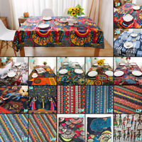 Ethnic Cotton Linen Fabric Tribal Boho Floral Print DIY Craft Dress Upholstery