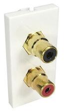 Rca 2 phono euro module panneau mural socket horizontal coupleur B3409
