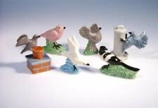 RETIRED FULL SET OF WADE BIRD WHIMSIES, COME WITH BOX, 2008/MAGPIE, ROBIN *MINT*