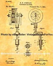 Vintage Tattoo Artist Equipment Machine Samuel O'Reilly Patent Wall Art Photo