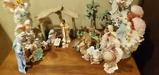Seraphim classics nativity with animals and extra angels