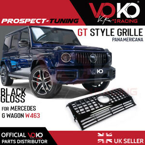 FRONT GT STYLE GRILLE FOR 1990-2018 BENZ G-CLASS W463 WAGON G500 G550 GT-R AMG