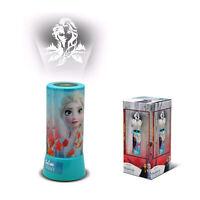 Lámpara De Noche Mesilla Disney Frozen II Luz Proyector Para LED Cilíndrico 1640