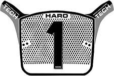 HARO AERO TECH OS Race Bmx NUMERO TARGA REPLICA Vecchia Scuola Cool nero grigio