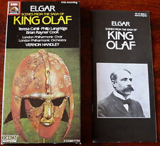 ELGAR KING OLAF 2 X CASSETTE ALBUMS HANDLEY HMV EMI DIG (1987) UK TESTED