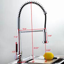 Robinet de cuisine à tête de douche laiton affinée pivotant rétractable moderne