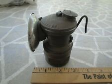 New listing Antique Auto Light Coal Miners Helmet Oil Lamp Collectable Rare U.S.A