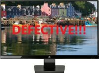 """HP - 27w 27"""" IPS LED FHD Monitor - Black Onyx For Parts or Repair ONLY!"""
