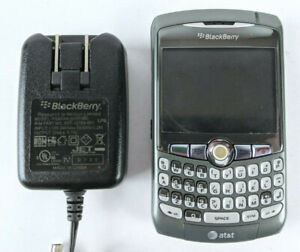 Blackberry 8310 Curve Cell Phone Grey AT&T With Charging Cord