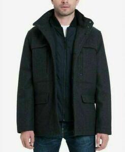 BNWT GENUINE MICHAEL KORS MEN'S GENOA COAT JACKET CHARCOAL SIZE XL RRP $295 .