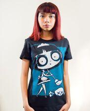 Akumu Ink Bye Bye Balloon Zombie Boy Gothic Cartoon Black Short Sleeved Tshirt