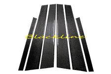 04~10 BMW E60 5 Series Black Carbon Fiber Door Trim Pillar Panel 6pcs 530 550 M5