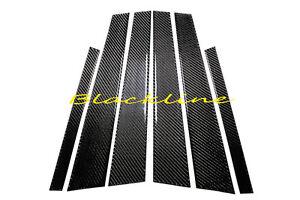 For 04~10 BMW E60 5 Series Black Carbon Fiber Door Trim Pillar Panel 6pcs 550 M5