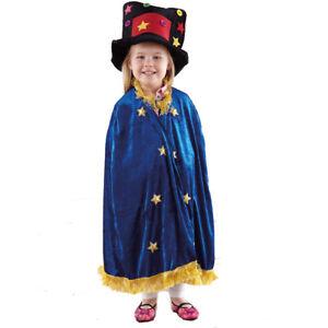 Childs Fancy Dress Cape Cloak Story Teller Kids Unisex Cloak Wizard Magician 3-5