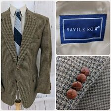 Savile Row 44R Blazer Mens 2 Leather-Knit Button Athletic Fit Sport Coat Wool