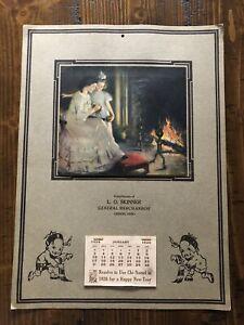 1926 Wall Calendar Complete L. O. Skinner Greene Ohio Brown & Bigelow Print