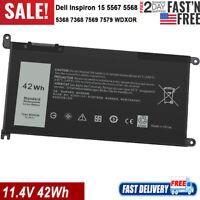 WDXOR Laptop Battery For Dell Inspiron 15 5567 5568 13 5368 7368 7569 7579 WDX0R