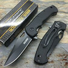 Tac-Force Assisted Opening Black Saber Hunting Survival Pocket Knife