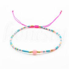 Charm Women Bohemian Pearl Seed Beaded Tassel Cuff Chain Bracelet  Jewelry