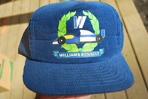 WILLIAMS RENAULT RACING HAT VINTAGE CORDUROY SNAPBACK SPORTACAP